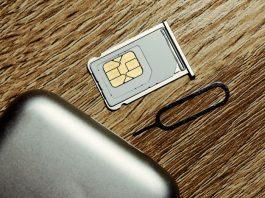 Insert sim card into smartphone.